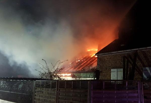Bild: Brand am Zollweg
