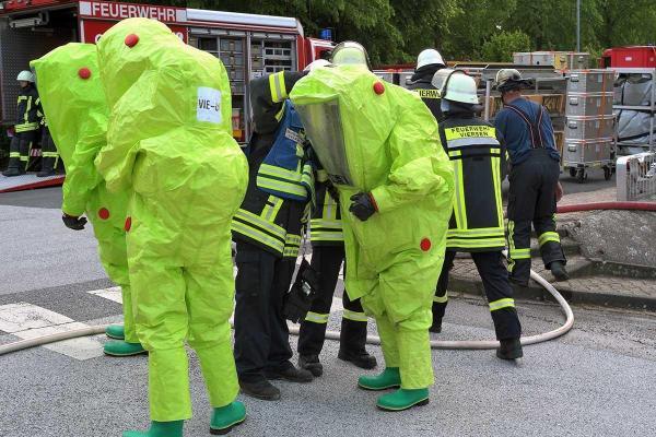 Bild: Gemeinsame Übung der Feuerwehren Viersen und Nettetal