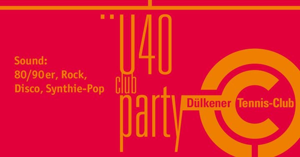 Veranstaltungsbild zu U & Ü40-Party