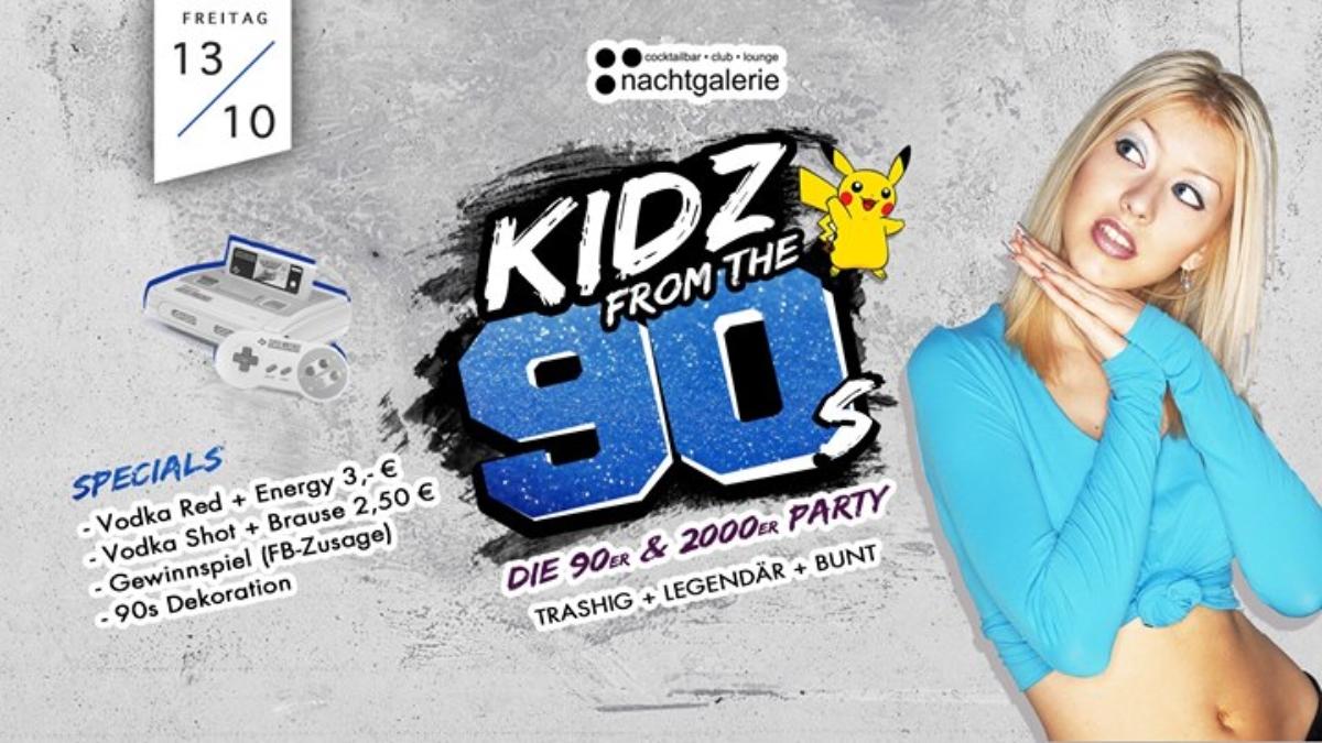 Veranstaltungsbild zu KIDZ from the 90s • 13. Oktober • Nachtgalerie
