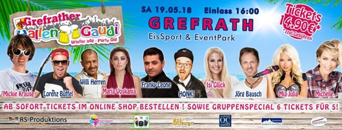 Veranstaltungsbild zu SA 19.05.18 Grefrather Hallengaudi
