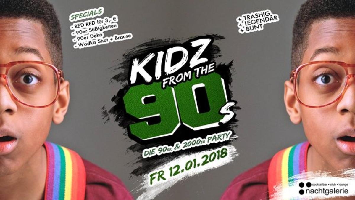 Veranstaltungsbild zu KIDZ from the 90s - Die 90er und 2000er Party • 12. Januar 2018