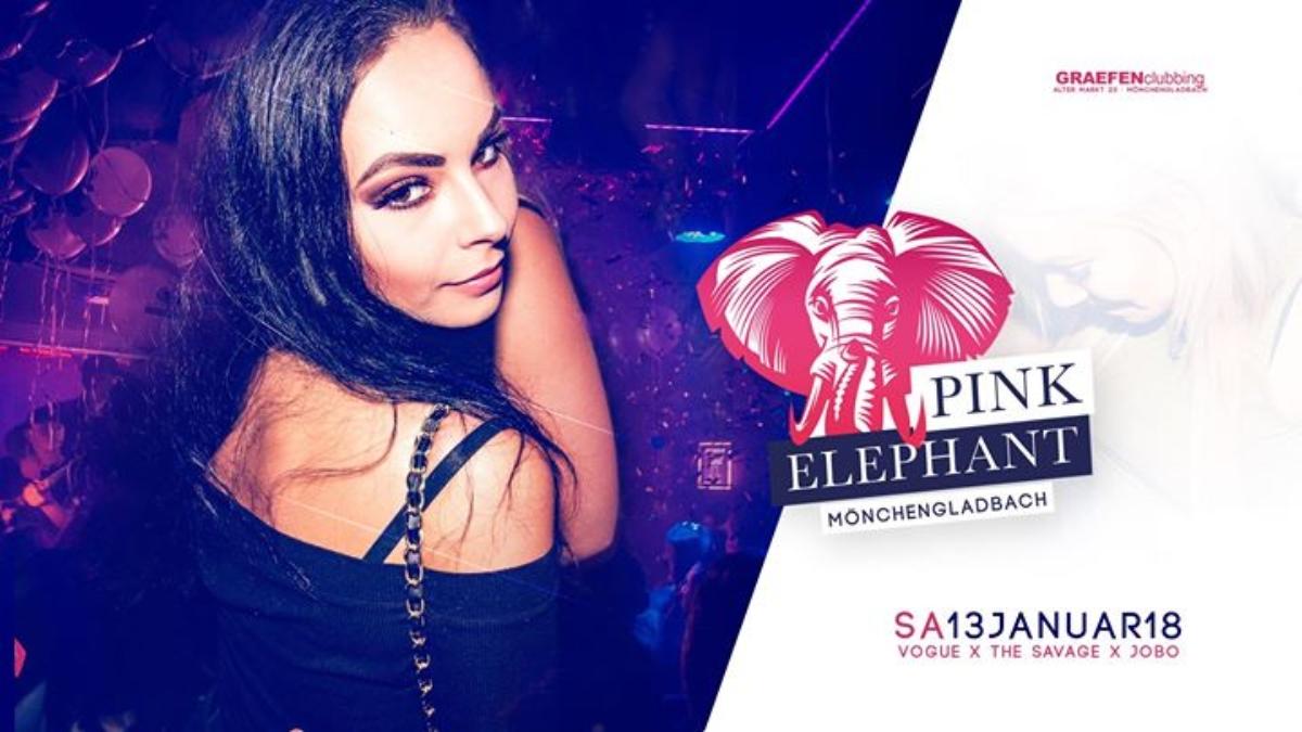 Veranstaltungsbild zu Pink Elephant | Sa. 13. Januar - Graefen M'Gladbach