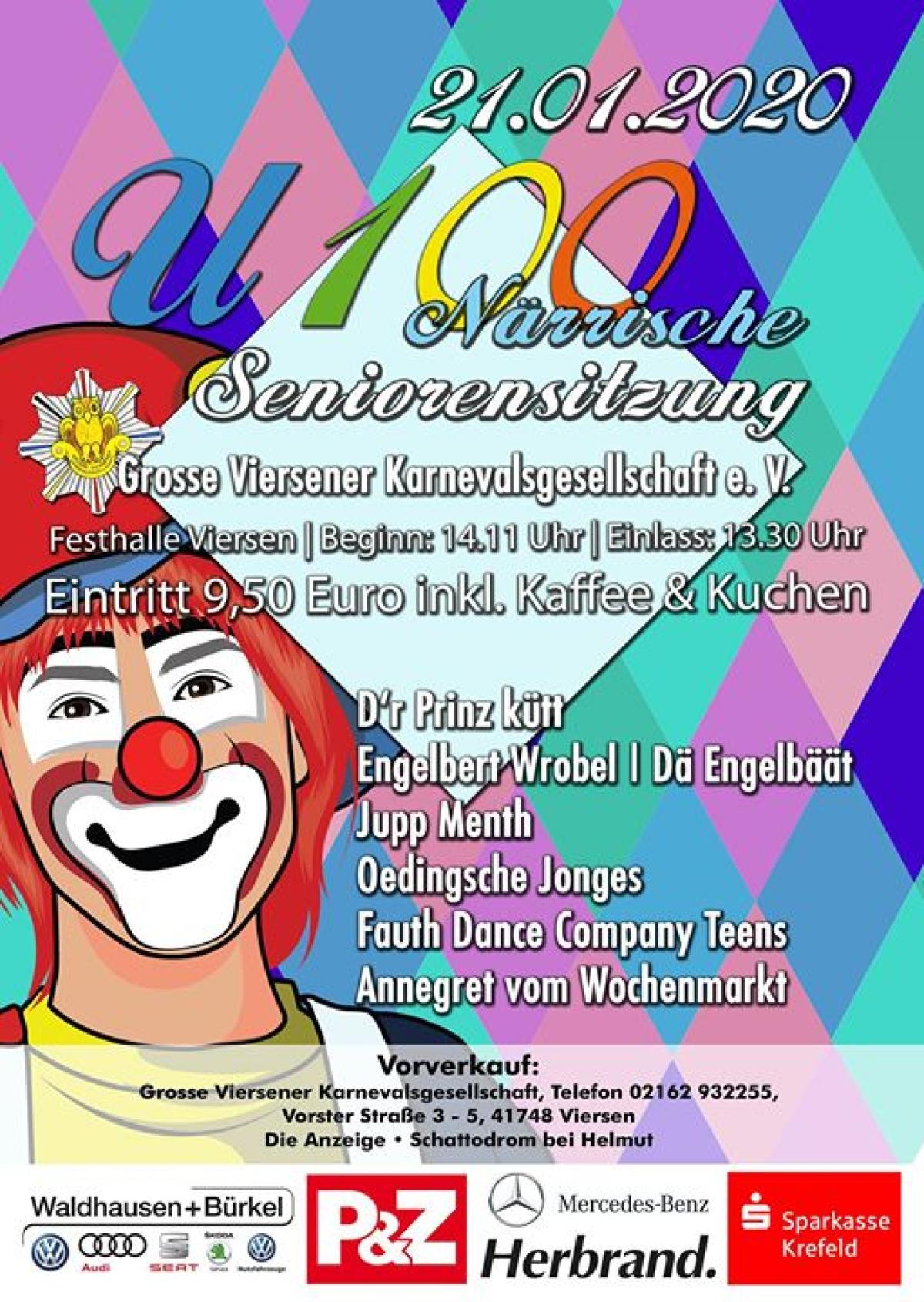 Veranstaltungsbild zu U100 - Närrische Seniorensitzung