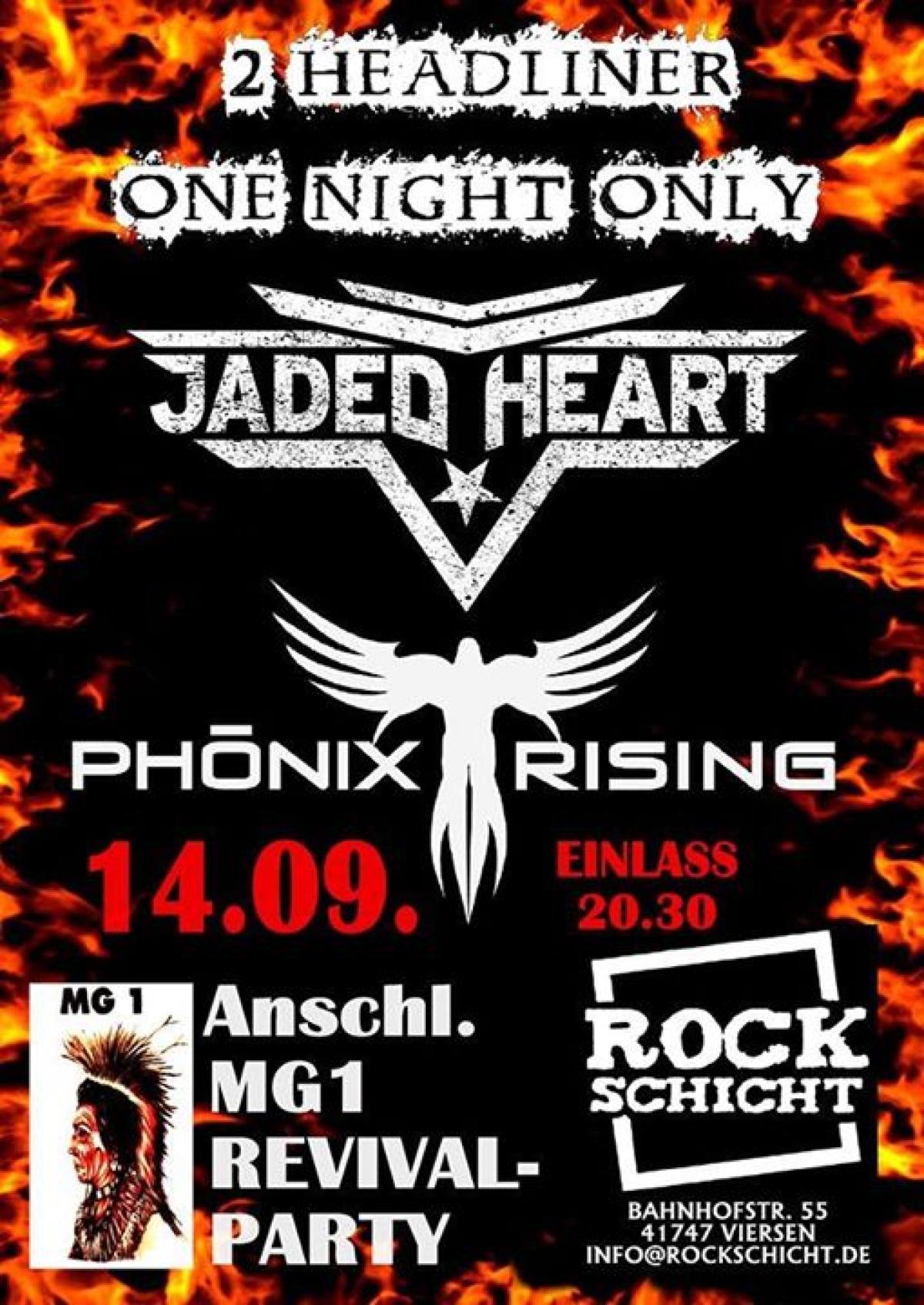 Veranstaltungsbild zu Jaded Heart & Phönix Rising